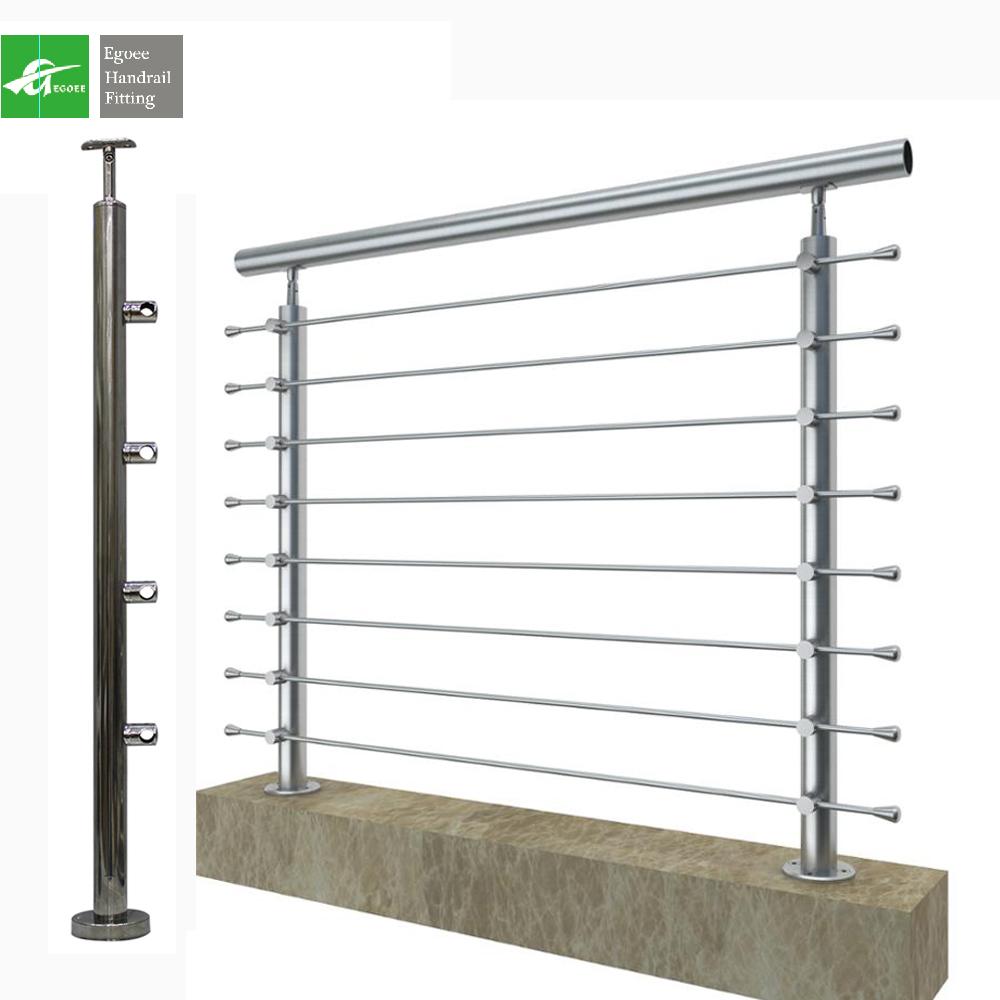 Нержавеющая сталь 304, современный дизайн, труба ms, перила, Наружные лестницы, дизайн балконных перил, Современные Лестницы
