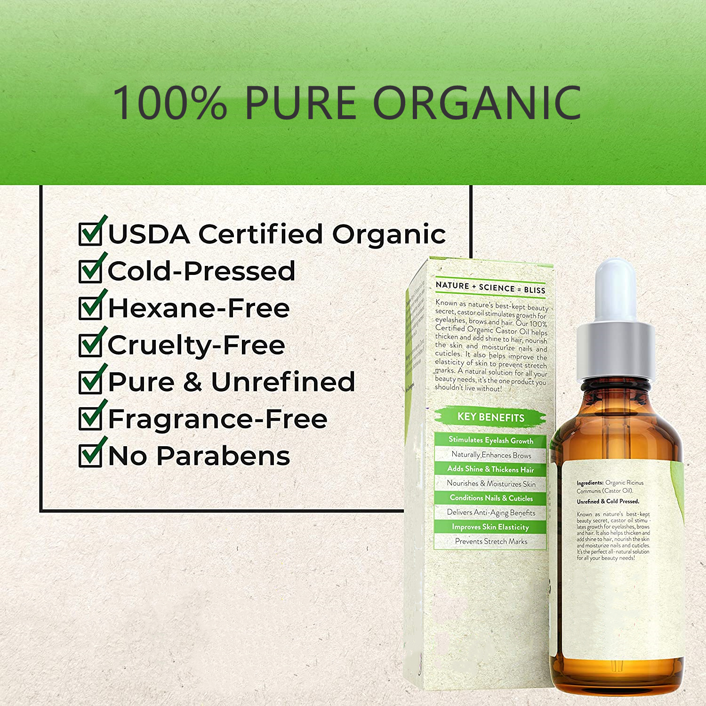 OEM частная марка, чистый холодный пресс, органическое касторовое масло для роста ресниц и бровей, ямайский черный касторовый эфирное масло