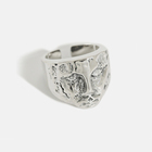 S925 sterling silver ring cold retro abstract portrait face female ring personality silver ring