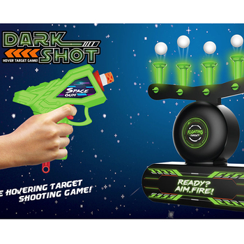 2in1 Luminous Electric hover shot target practice and Target Set Shot toys floating ball shooting game with 2 soft bullets guns