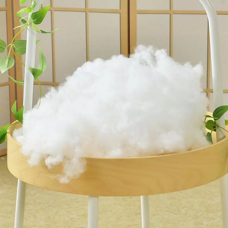 Supplied by manufacture Superior resiliency recycled silicon Polyester staple fiber For pillow stuffing toys Filling Material
