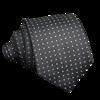Grey Tie White Dots
