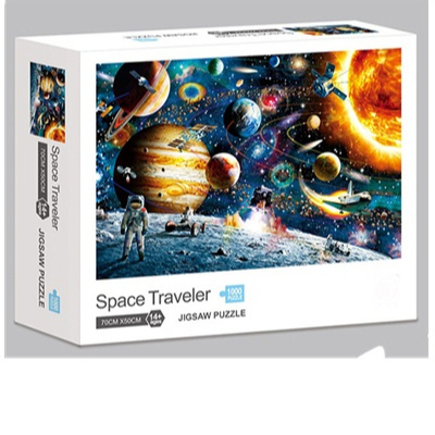 Puzzle 1000 Pieces Jigsaw Puzzle for Kids Adults Planets in Space Jigsaw Puzzle