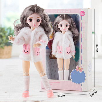 30Cm Cheap Silicone Love Doll Set Gift Box Dress Up Real Doll With Music Girl Wedding Toy Multi-Joint