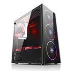 Hot Selling Bulk Package Computer Parts And Accessories Economical Spcc Black Coating New Atx Computer Desktop Pc Case