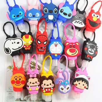 Cartoon Silicone Mini Hand Sanitizer Holder Travel Portable Safe Gel Holder Hang able Liquid Soap Dispenser Containers for Kids