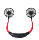 In Stock Portable Hands Free Neckband Sports Fan USB Rechargeable Lazy Hanging Neck Fan For Traveling Camping