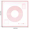 60x60cm-right ángulo rojo/negro