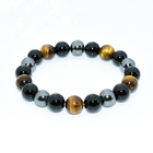 Tiger Eye & Hematite & Black Obsidian High Grade Natural Stone Bracelet