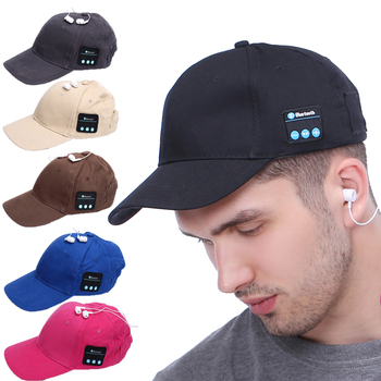 high quality CHINESE Manufacture Smart Hats Bluetooth 5.0 version fashional Baseball Sports Sun headphone hat For Men