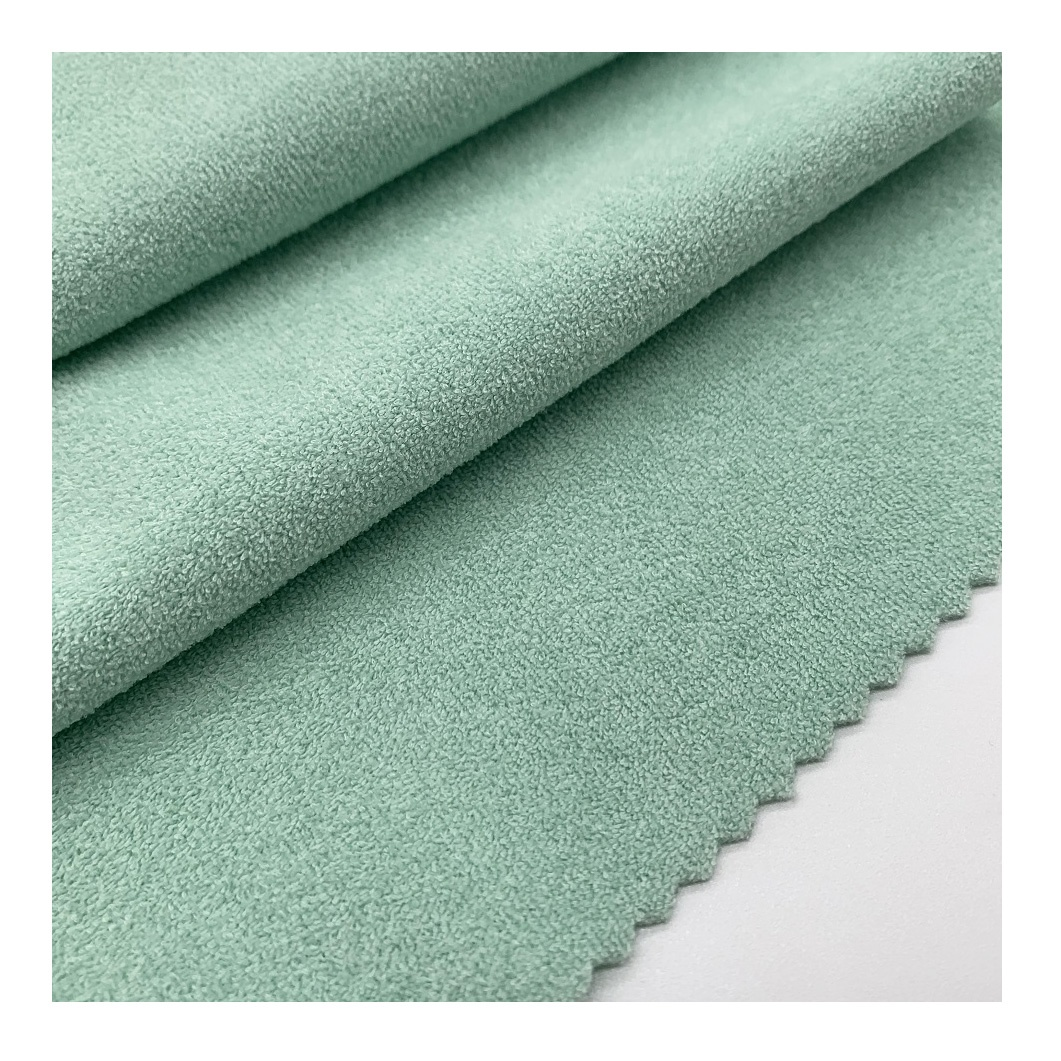 Customized color terry fabric for swimwear bikini women nylon spandex knitted fabric good stretch