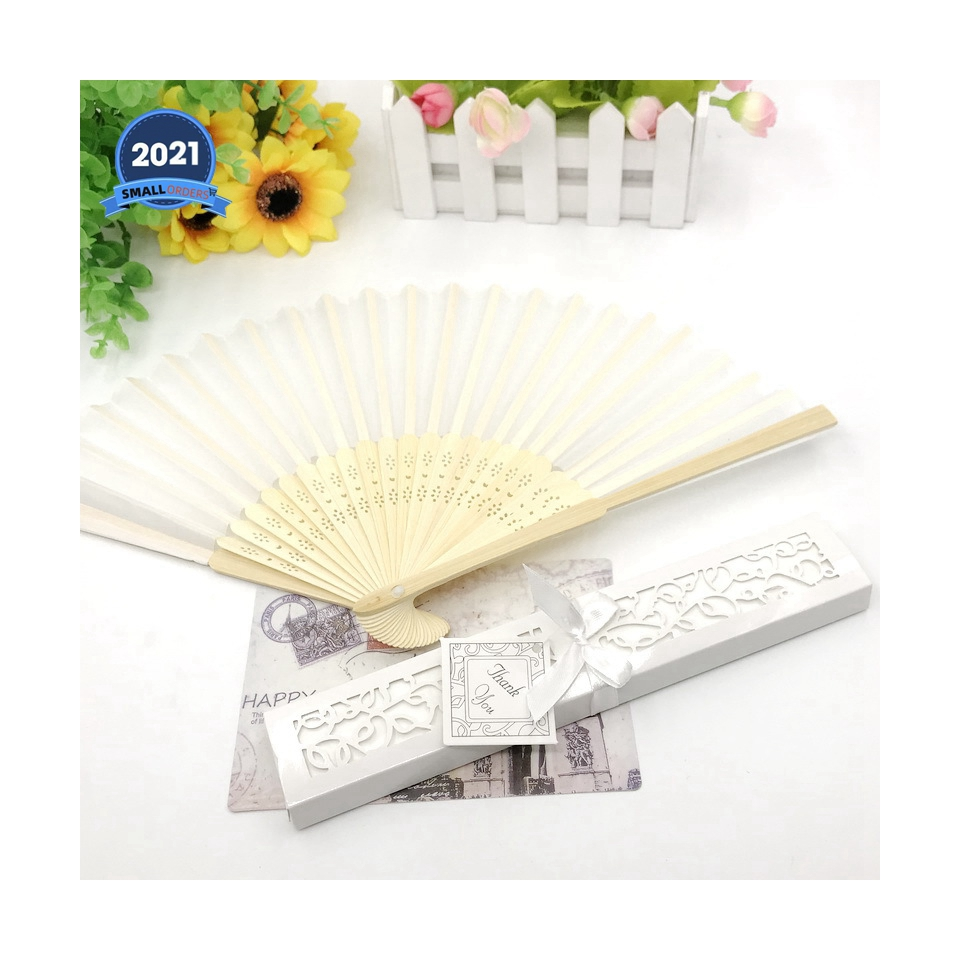 China wholesale price silk cloth fashion wedding gift indoor and outdoor use summer beautiful fan bamboo crafts