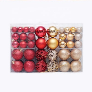 Read to Ship plastic Christmas balls set pack 100 Christmas tree decoration