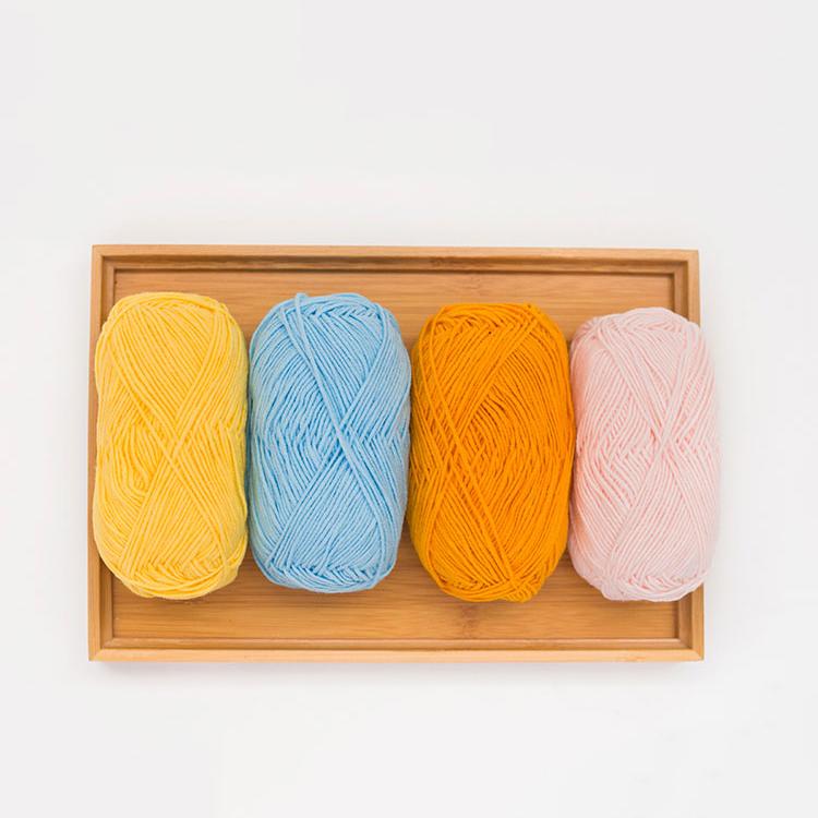 Yarncrafts гигроскопической влажности красочные акриловые молочная хлопковая крючком смешанная пряжа для ручного вязания