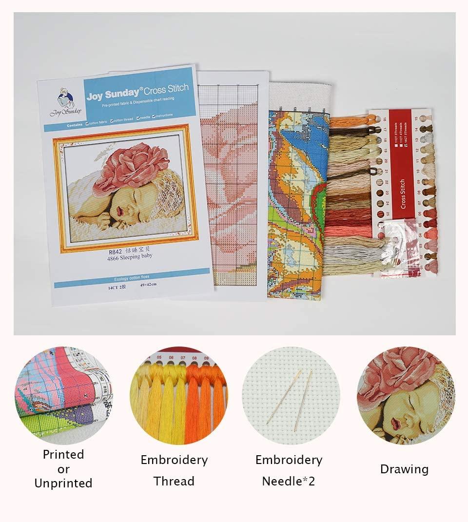 High quality stamped cross stitch printed Animal embroidery cross stitch set