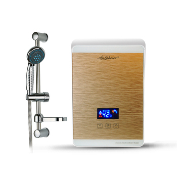 AC220V 5.5kw touch screen instant tankless electric water heater for bathroom