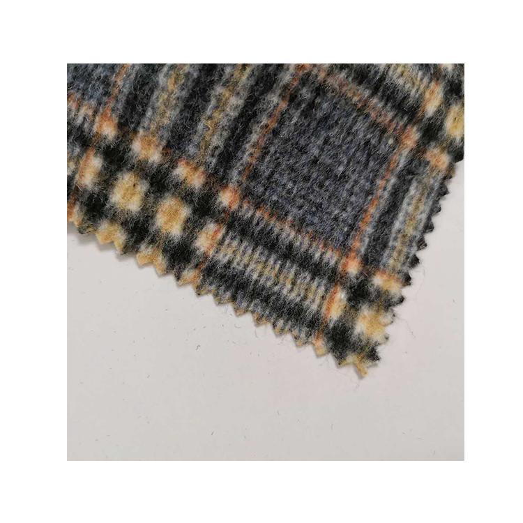 Высококачественная серая светлая клетчатая тканая смесь шерсти в наличии