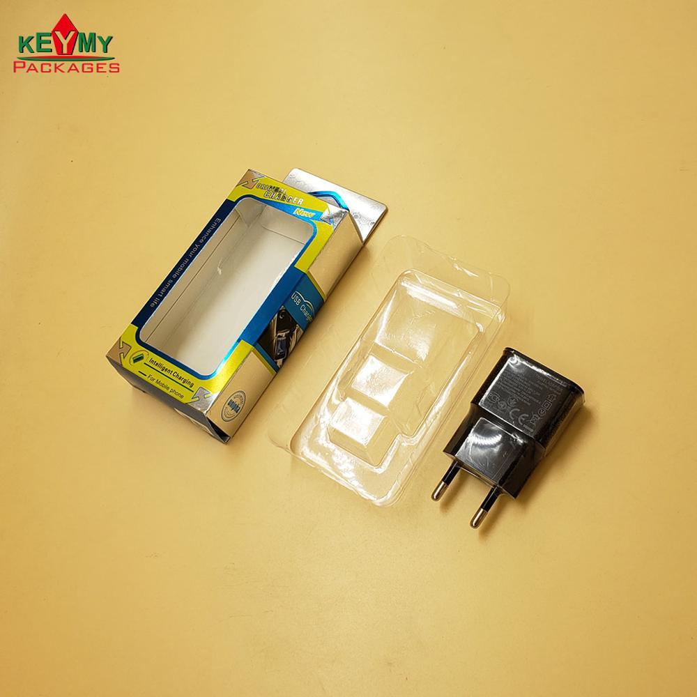 Цветная коробка с лотком для зарядных устройств для мобильных телефонов, упаковка для домашнего зарядного устройства
