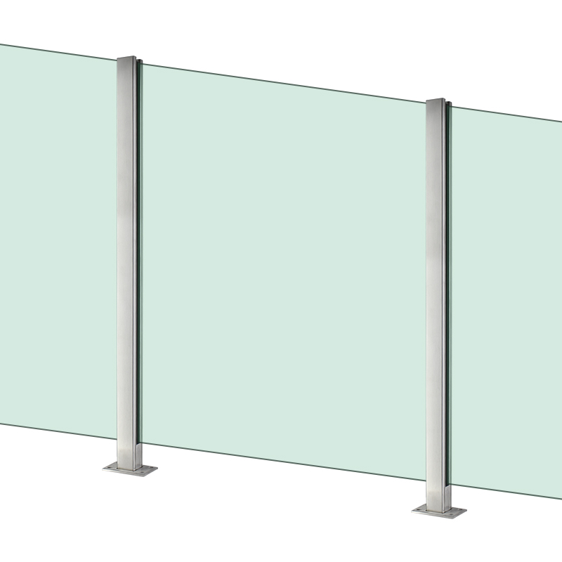 Внутренняя и наружная палуба для балкона, Безрамная стеклянная балюстрада, ограда, Террасная балюстрада