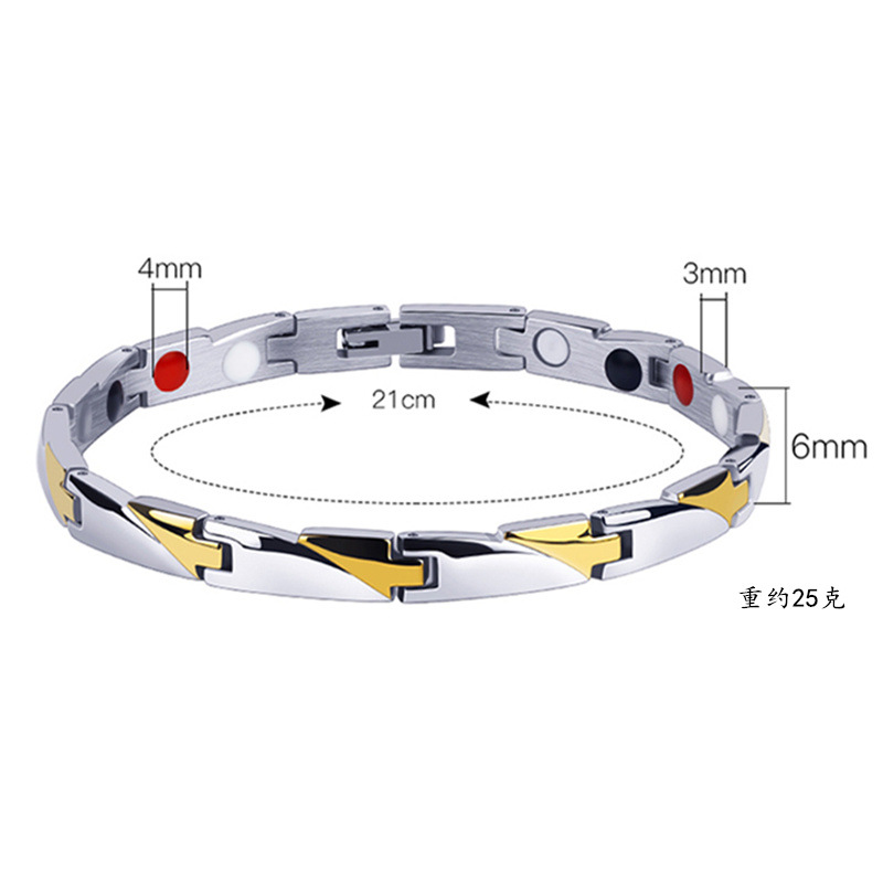 Personality Magnet Men's Stainless Steel Bracelet Bangle  Right Grand