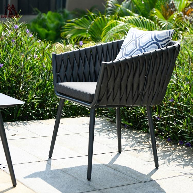 Плетеное уличное кресло, садовый диван для двора, отдыха, балкона, гостиной, виллы, комбинированная мебель