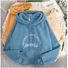 2020 new autumn and winter Korean version of loose large size lamb plush hooded harajuku streetwear gym hoodies for women ins tr