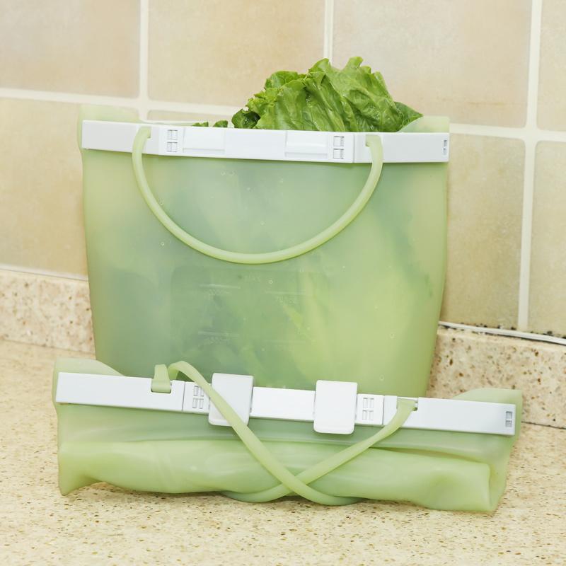 Портативная детская Большая складная силиконовая сумка на молнии для путешествий вакуумная многоразовая силиконовая сумка для хранения пищи Новинка