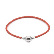 Кожаный браслет Xinyao, 12 цветов, 16-20 см, для женщин, подходит для оригинальных бусин, дизайнерский браслет «сделай сам», Прямая поставка(Китай)