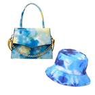 Hat 2021 Fashion Tie Dye Handbags Purse Sets Hat And Purse Set Hot Selling Bucket Hat Sandals And Purse Sets Handbags For Women