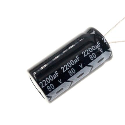 Электролитический конденсатор 80 в 2200 мкФ, алюминиевый электролитический конденсатор 80 в 2200MFD