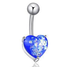 Сердце Стиль Блестящий пупок пирсинг хип-хоп пупка Кольца пирсинг для тела серьги из нержавеющей стали кольца для живота модный пирсинг(Китай)
