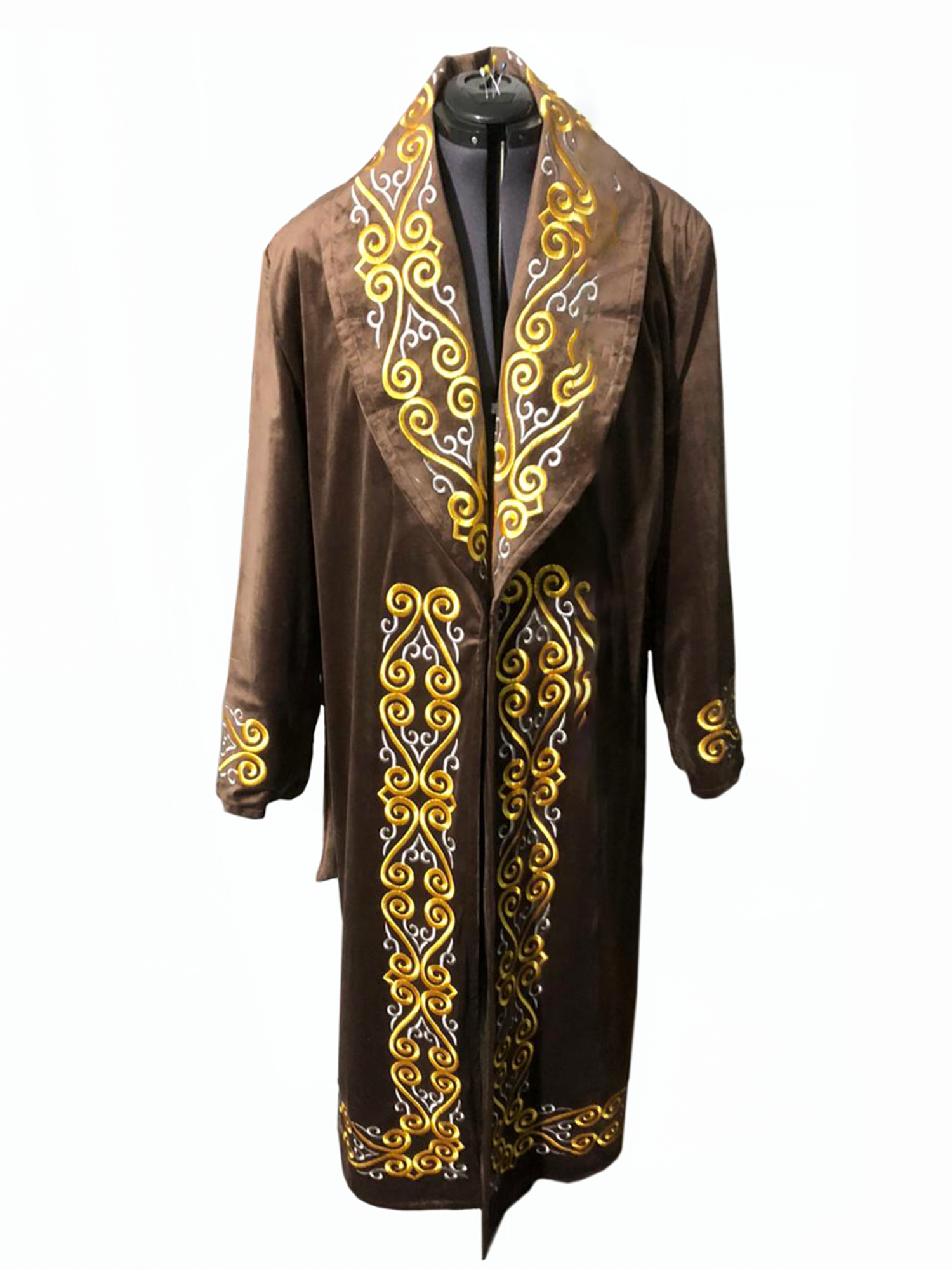 Gold Or Silve r Color Warming Long Overcoat for Men