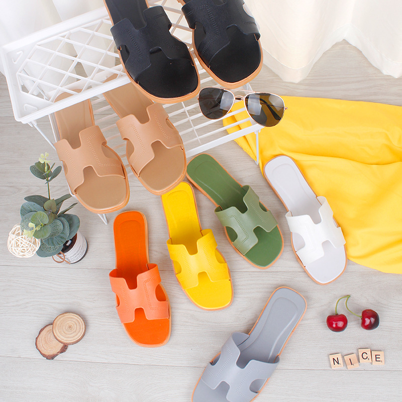 Горячая Распродажа, летняя обувь, Тапочки без рисунка, пляжные сандалии из ПВХ на заказ для женщин