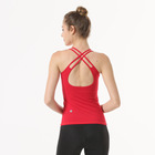 High Quality Tailored Women Sports Beauty Back Sleeveless Top Yoga Vest