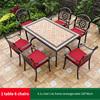 15-6 JL chair 1 AL frame rectangle table 150*90cm