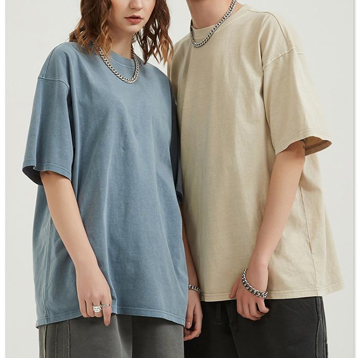hot selling fashion branded oversized hip hop t shirt vintage washed unisex heavy 250gsm cotton t shirt