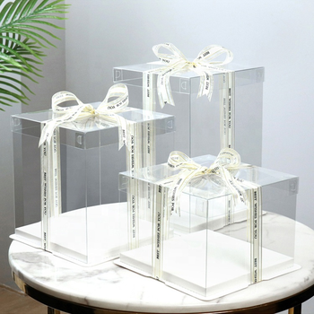 Wholesale Cheap 2021 Best Clear cake box Custom High Quality Cake Boxes