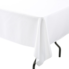Polyester Table Cloth Table Cloth Tablecloth Custom Logo 120 Inch Round Square Stretch Polyester White Beige Linens Table Cloth Tablecloths For Wedding Hotel