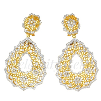 Latest Style Antique Palace 5A CZ 925 sterling Silver Drop Earrings