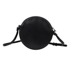 Women Bag Factory Direct Blank Black Party Casual Pu Leather Women Ladies Crossbody Round Bag