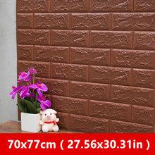 70x77 см 3D стикер на стену s декоративный самоклеющийся для детской комнаты, спальни, Декор, пенопластовый кирпич для декора комнаты, обои, Наст...(Китай)