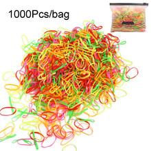 Разноцветные нейлоновые резинки для волос для девочек, 100/1000 шт., Детские резинки для фиксации хвостиков, повязка на голову, Детские резинки, ...(Китай)