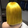 Yellow Straight Bob