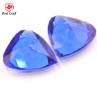 Redleaf jewelry Pear shape 40*41mm blue color glass gems crystal glass