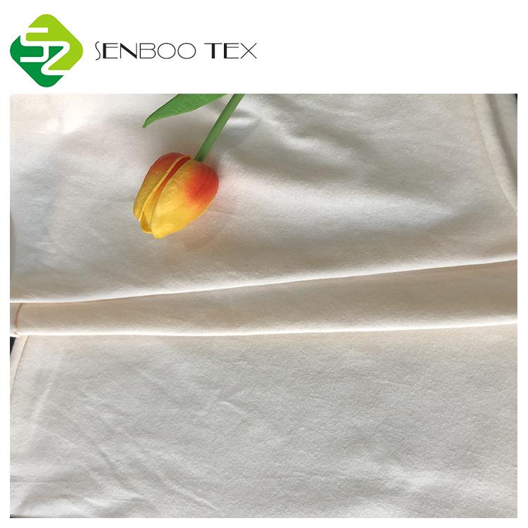 Осотп Органическая коттоновая ткань 40S натуральный белый 180gsm вязаная одежда, трикотажная ткань для ребенка платье/рубашка Нижнее белье для женщин