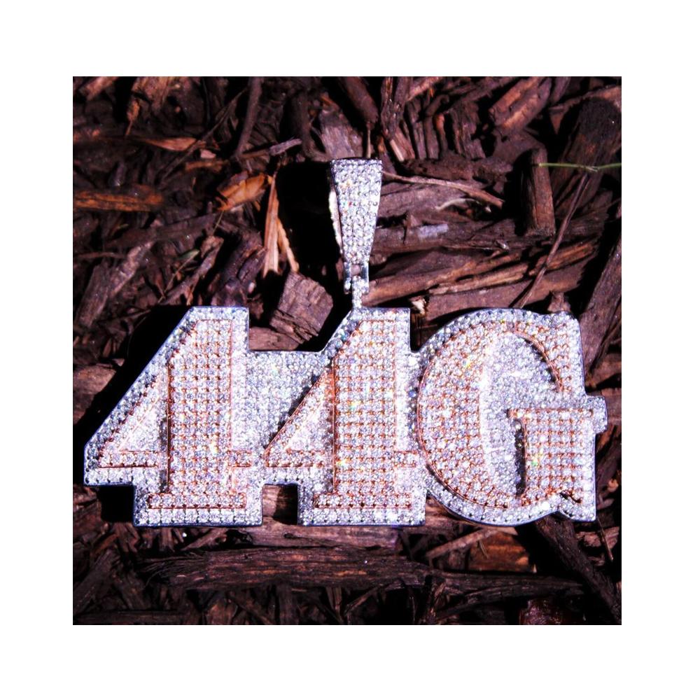 Стильные ювелирные изделия на заказ в стиле хип-хоп, подвеска из стерлингового серебра 925 пробы с двухслойным бриллиантом ручной работы