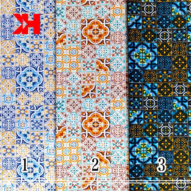 chinese custom flower printing fabric 100% cotton poplin fabric for cloth