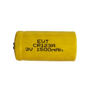 EWT CR17335 / CR123A LiMnO2 battery 1600mAh 3V Applied for Electronics