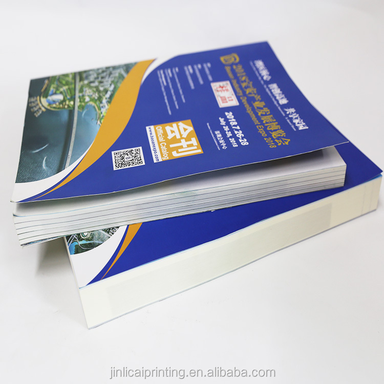 full color softcover catalog magazine book coloring printing soft cover