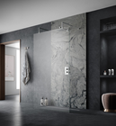 Bathroom Glass Bathroom High End Modern Bathroom With Sliding Tempered Glass Door Shower